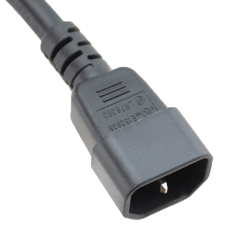 IEC C14 to C15 Power Cord