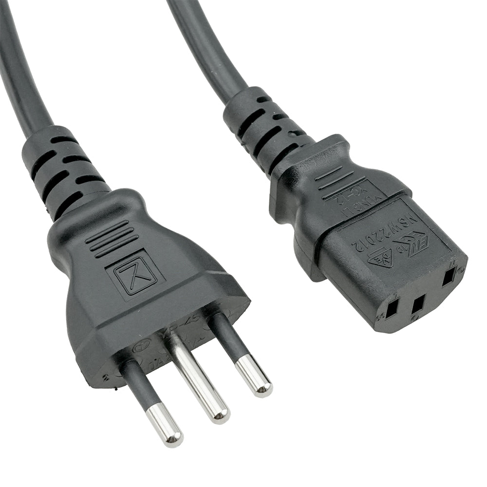 Italy CEI 23-50 to C13 Power Cord