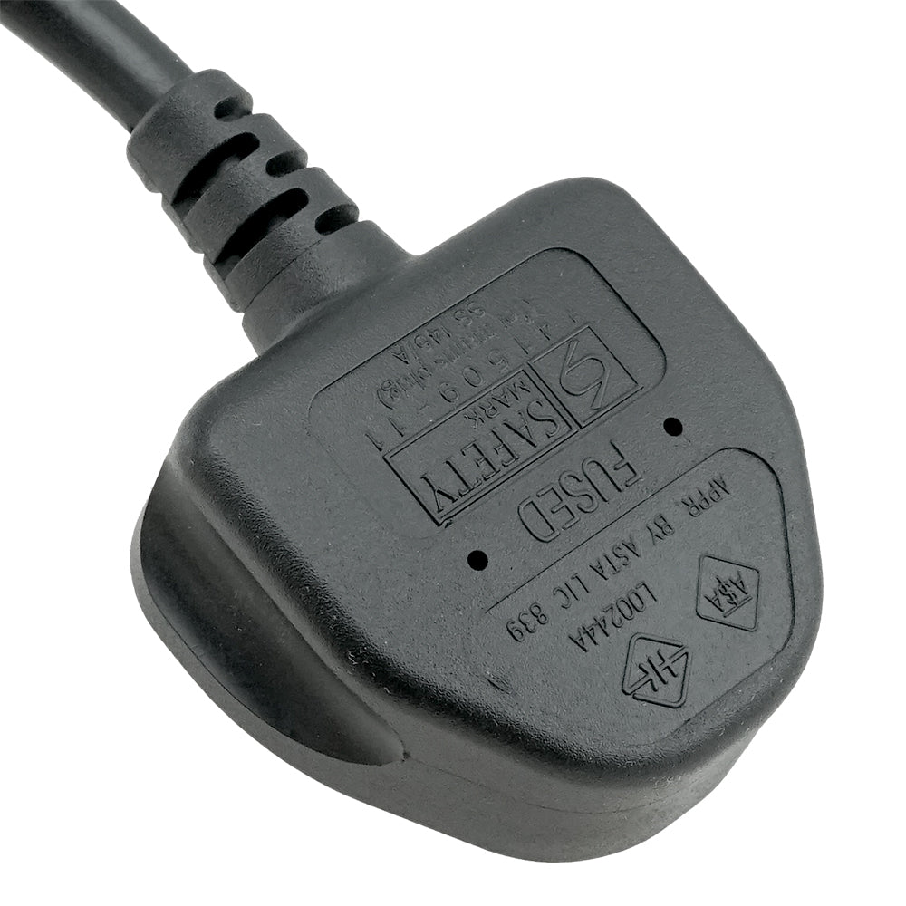 BS1363 to C13 Power Cord