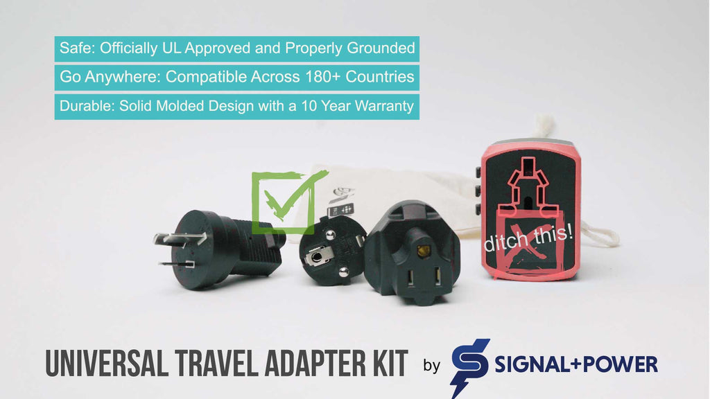 Universal Travel Adapter Kit