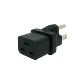IEC C19 to NEMA 5-15P Plug Adapter