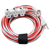 25 ft. Outdoor Holiday Extension Cord - Red and White Ultra Bright