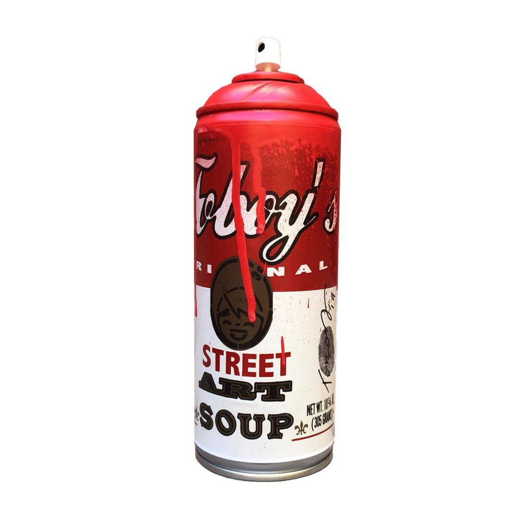 STREET ART SOUP RED + PLEXI BOX