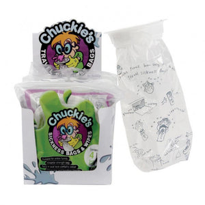 Chuckie's Sick Bags & Wipes Box of 6 Packs of 4