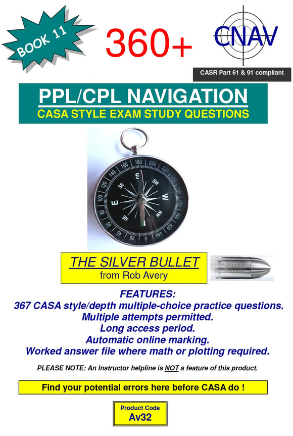 Rob Avery PPL/CPL Navigation 360+ Questions - AV32