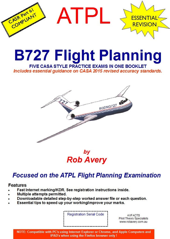 Rob Avery ATPL B727 Flight Planning Exams Book - AV3