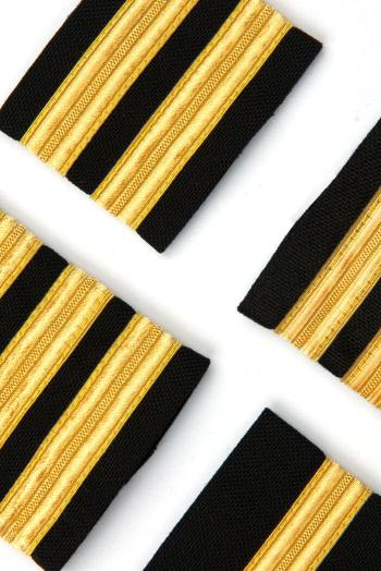 Epaulettes Black With Gold Bars