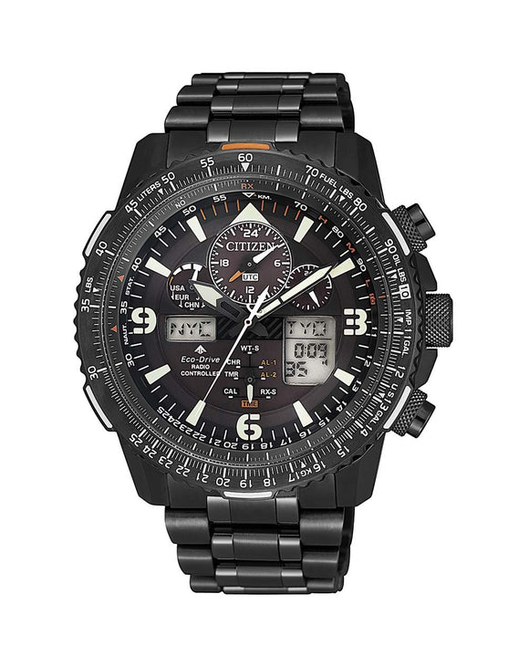 Citizen Promaster Black Sky Nighthawk Eco-Drive Pilot Watch - JY8085-81E