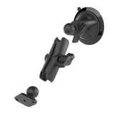 RAM® Twist-Lock™ Suction Cup Double Ball Mount