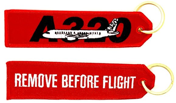 REMOVE BEFORE FLIGHT AIRBUS A320 Keyring