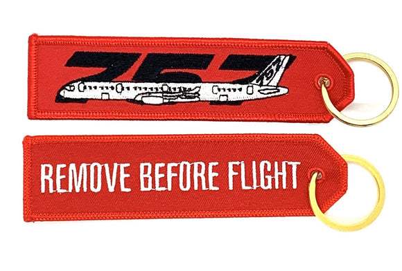 REMOVE BEFORE FLIGHT BOEING 757 Keyring