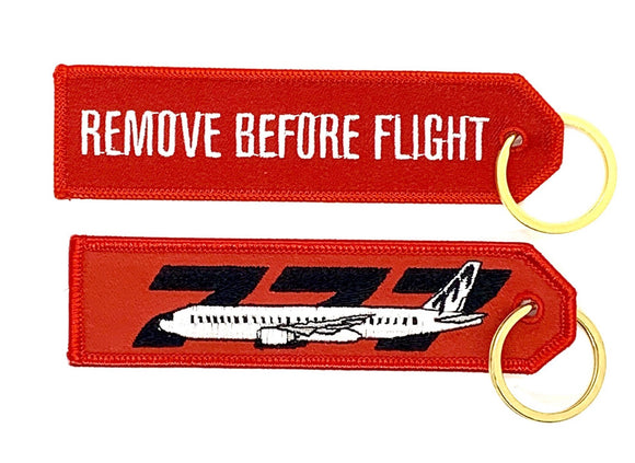REMOVE BEFORE FLIGHT BOEING 777 Keyring