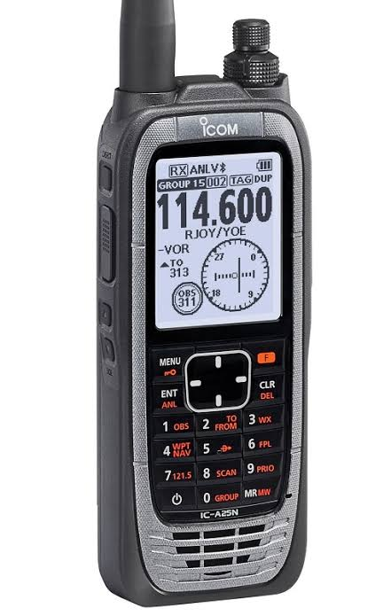 ICOM IC-A25NE VHF AIR BAND TRANSCEIVER