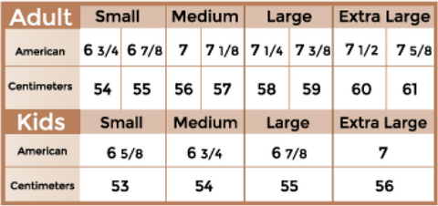 Bullhide Hats Size Guide