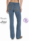 Womens Premium Patch Boot Up Sits Above Hip Jean - 10MWZRS