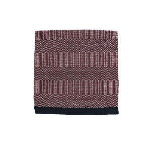 "Fort Worth Double Weave Saddle Blanket 32x64"" - NAVY/BURGUNDY"