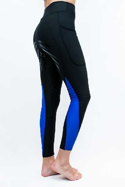 Performa Ride COLOUR BLOCK Riding Tights - Black/Royal