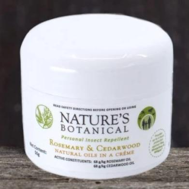 Nature's Botanical Rosemary & Cedarwood Creme - Natural Insect Repellent