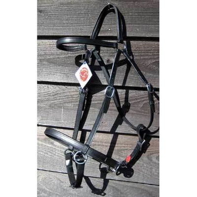 LightRider STOCKHORSE BITLESS Bridle - Regular Leather with Brass Fittings