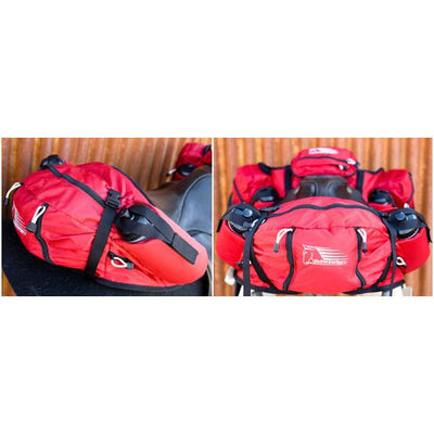 Stowaway English Cantle Saddle Bags - RED