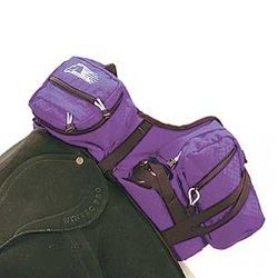 Purple Stowaway Saddle Bags Pommel DELUXE