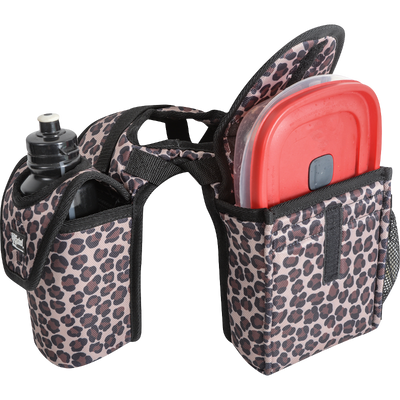 Cashel Saddle Bag Horn Bag with Lunch Bag and Bottle Holder - Leopard
