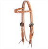 Cashel Headstall - Guns N Roses in Natural Leather