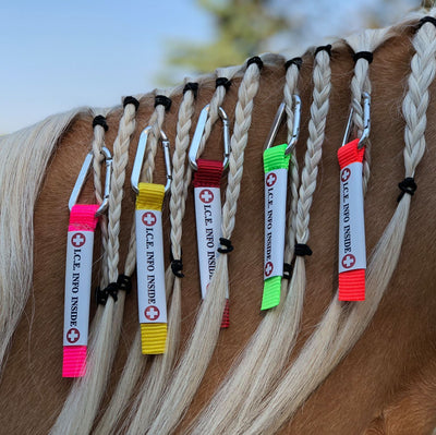 I.C.E. UltraLite - Equine ID Tag with Carabiner Clip