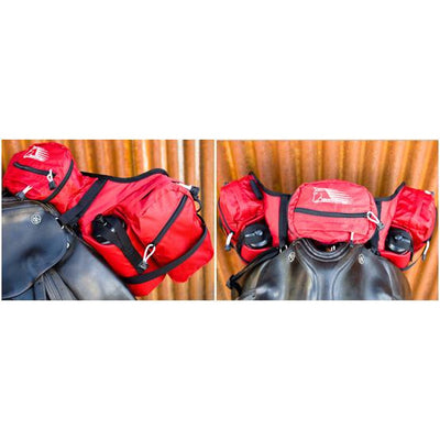 Deluxe Pommel Saddle Bag - RED