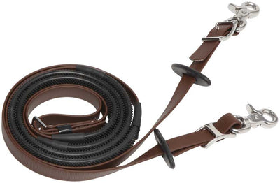 Zilco Deluxe Enduranc Reins BROWN