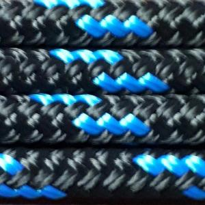 Nungar Knots 6mm Headstall - BLACK BLUE
