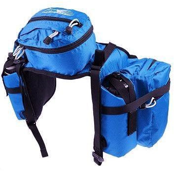 Royal Blue Stowaway Saddle Bags Pommel DELUXE