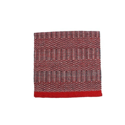 "Fort Worth Double Weave Saddle Blanket 32x64"" - RED/NAVY"
