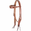 Martin Saddlery Headstall - Rope Boarder Tooled, Browband in Chestnut Sklrting Leather