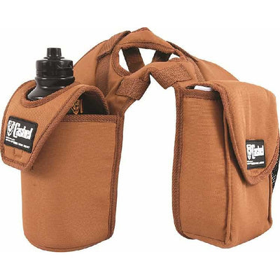 Cashel saddle bag - Lunch bag, bottle holder horn bag - BROWN
