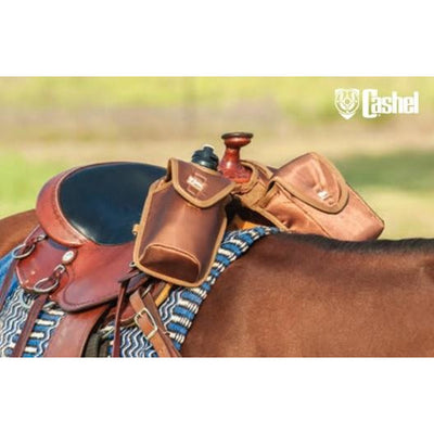 Cashel saddle bag - Lunch bag, bottle holder horn bag