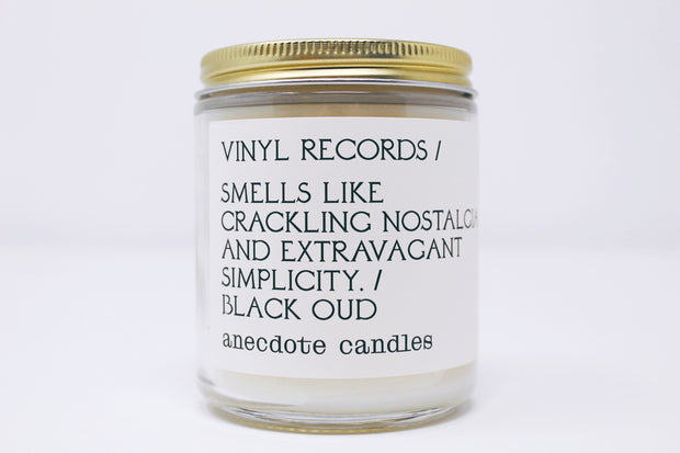 Vinyl Records Candle