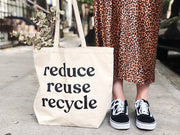 Reduce Reuse Recycle Canvas Tote Bag