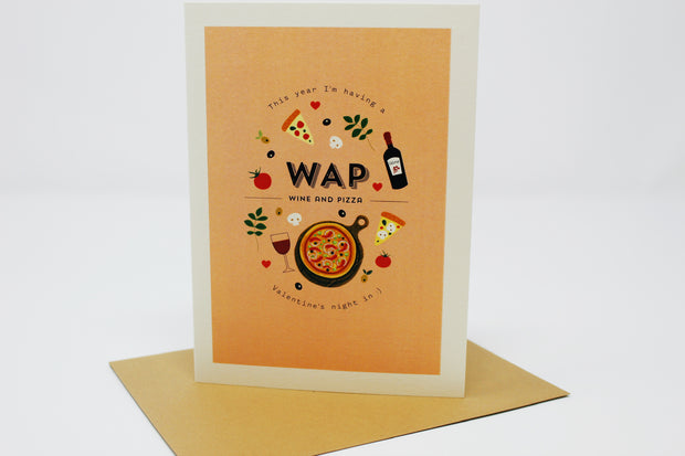WAP (Wine & Pizza) Greeting Card
