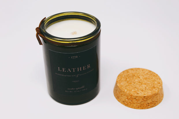 Leather 1776 Candle