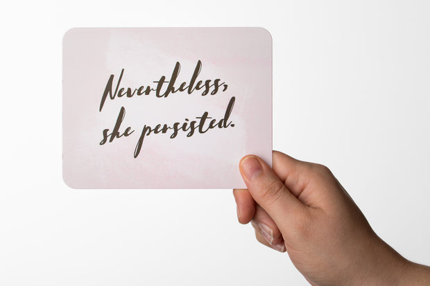 """She Persisted"" Postcard"