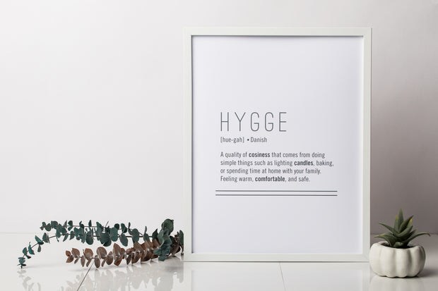 Hygge Definition Art Print