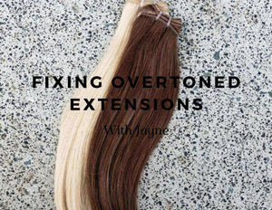 Fixing over-toned hair extensions with Jayne!
