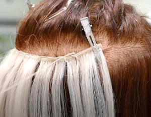 Hair Extension Wefts - How to secure the ends correctly and efficiently