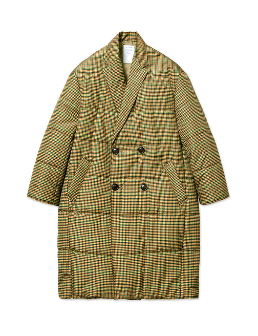 GUNCLUB CHECK PADDED CHESTER COAT