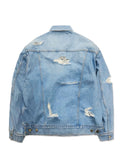 CRUSHED DENIM JACKET