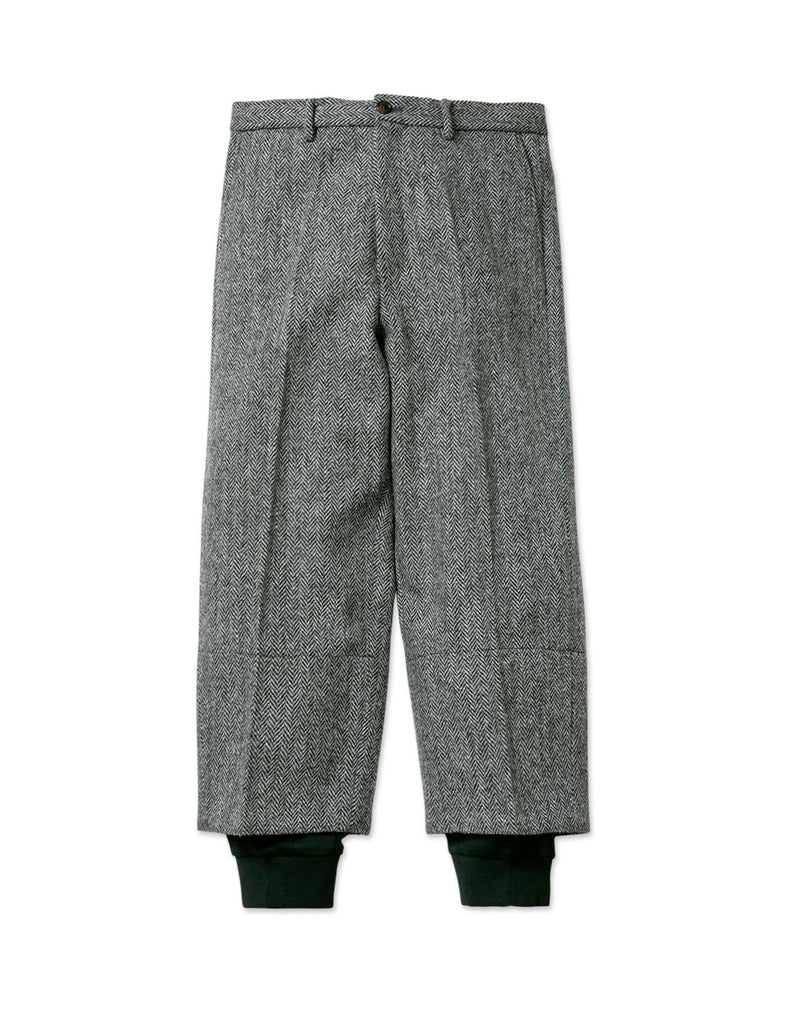 RIB LAYERED WOOL PANT