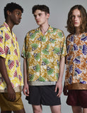 AFRICAN PATTERN CAMP COLLAR S/S SHIRT