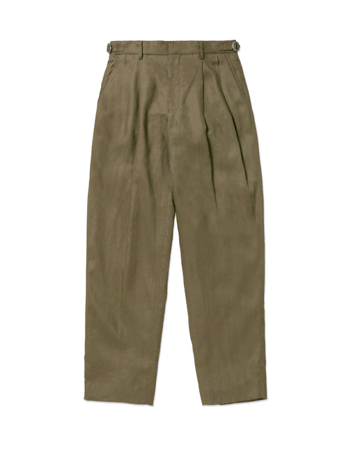 LINEN TUCKED PANT