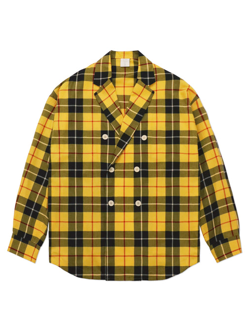 TARTAN CHECK DOUBLE BREASTED SHIRT
